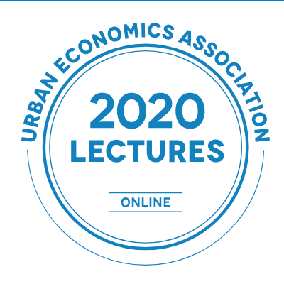 Logo for the Urban Economics Association's 2020 online Lectures series