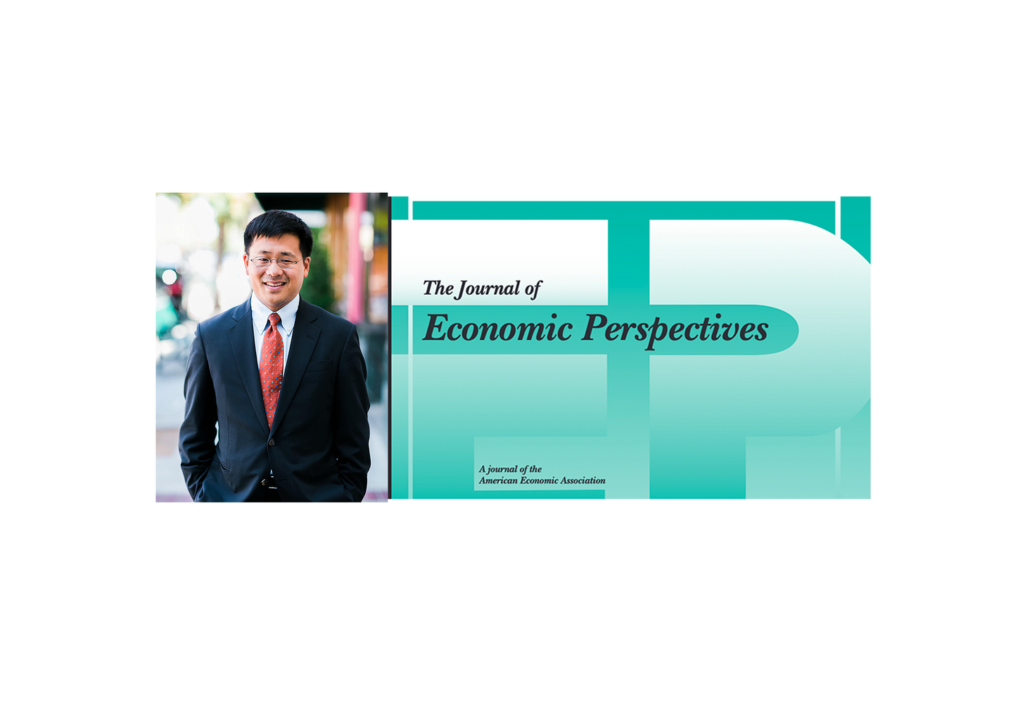 David Lee photo with image of Journal of Economic Perspectives cover